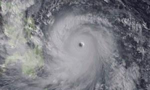 Satellite image of typhoon Haiyan 7/11/13